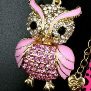 Owl sweater necklace.